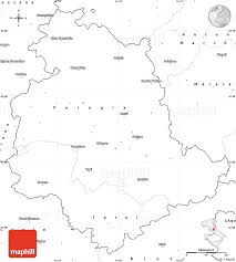 blank simple map of umbria