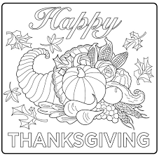 harvest cornucopia drawing a simple coloring page for and