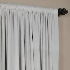 108 In Blackout Curtains by Reflection Gray 108 X 100 Inch Doublewide Blackout Velvet Curtain