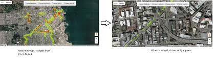 Radius Maps Leaflet Heatmaps With Local Maxima Weight Api Functionalities