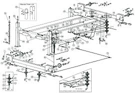 auto lift parts overall breakdown for hydra lift models 68cb 88cb