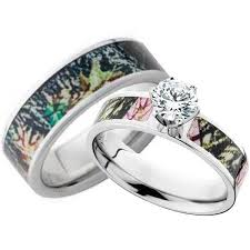 camo wedding bands his and hers his and hers cz camo wedding ring set camo wedding rings camo