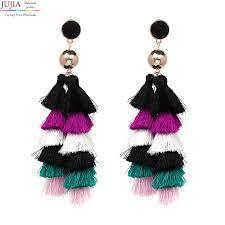 Cascading Bead Chandelier Earrings Express Jujia 6 Layer Cascading Fringe Earring Jewelry Earrings Fashion