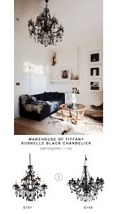 warehouse of tiffany rushelle black chandelier copycatchic