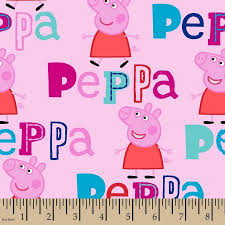 peppa pig fabric yard pink 43 44