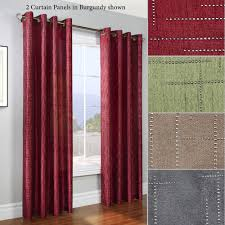 electra mini studded grommet curtain panels grommet curtains
