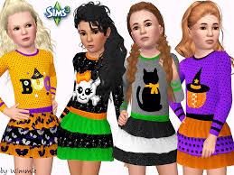 halloween party girls sims 3 girls halloween dress ts3 u0026 2 tots u0026 kids pinterest
