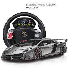 lamborghini veneno rc car car toys rc remote comtrol steering wheel lamborghini