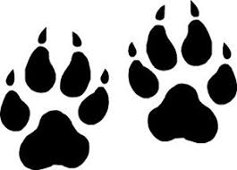 wolf paw prints vinyl decals stickers graphics ebay