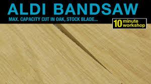 Laminate Flooring Blade Aldi Bandsaw Max Capacity Rip In Oak Stock Blade Youtube