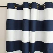 White And Navy Striped Curtains Interesting Blue And White Striped Curtains And Navy And White