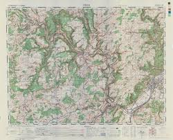 Trier Germany Map by 83rd Infantry Division Documents Maps