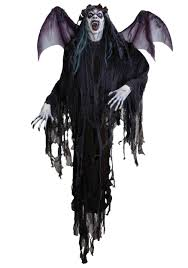 8 ft hanging vampire prop with wings vampire decorations