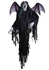 headless horseman halloween prop 8 ft hanging vampire prop with wings vampire decorations