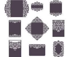 big set cricut wedding invitation template gate fold card
