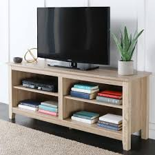 Natural Wood Furniture by Walker Edison Furniture Company 58 In Wood Tv Media Stand Storage