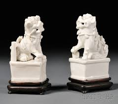 foo dogs for sale pair of blanc de chine foo dogs sale number 2591b lot number 635