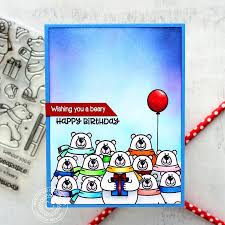 sunny studio stamps playful polar bears 4x6 photo polymer clear
