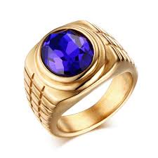 men rings wholesale images Wholesale mens stainless steel gold ip rings with stone jpg