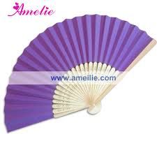 custom paper fans 50piece lot wholesale fans bamboo wedding favors white blue