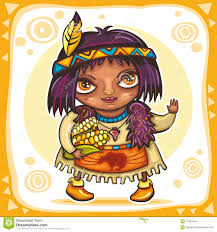 thanksgiving indian costume thanksgiving indian cartoon stock vector image 73114173