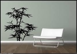 pochoir chambre bambou herbe feuilles arbre salle de bain chambre autocollant mural
