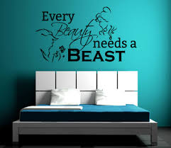 popular beauty beast sticker buy cheap beauty beast sticker lots beauty and the beast wall sticker romantic home art mural quotes every beauty needs a beast