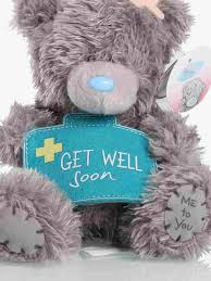 get well soon teddy me to you get well soon teddy 5inch clintons