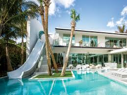home features barry brodsky s newest miami home features a waterslide