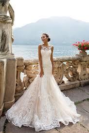 robe sirene mariage de mariée sirène col rond dos nu sans manche