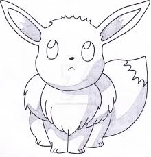 eevee sitting front view by taurustiger86 on deviantart