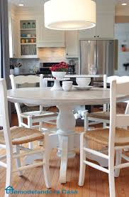 Pedestal Tables And Chairs Remodelando La Casa Kitchen Table And Chairs Makeover