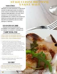 hote pour cuisine stage de cuisine malo baie du mont michel