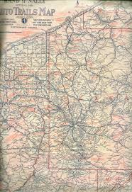 Map Of Southern Ohio by Pennsylvania In Old Road Atlases 1921 1925