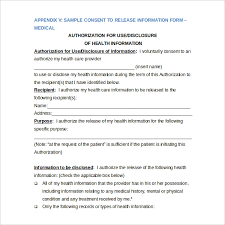 medical release of information form patient information medical