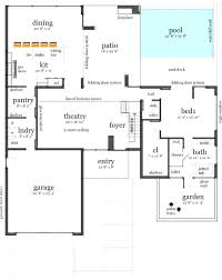pool house plans with bedroom courtyard garage house plans small style homes with pool