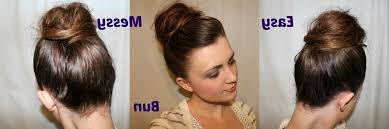 messy bun hairstyles for long hair 2 minute elegant bun hairstyle