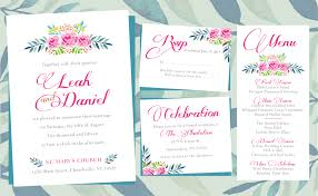 printing wedding programs floral wedding invitations printing by