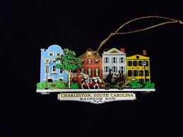 charleston ornament rainbow row colored charleston collections