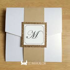 pocket fold lace wedding invitations free shipping