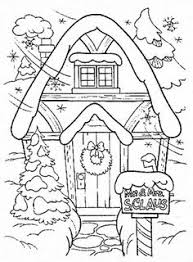 coloring christmas cake house coloring pages