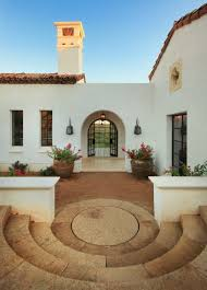 mission style houses modern take on california mission style courtyards porches