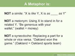 how to write a metaphor with examples wikihow