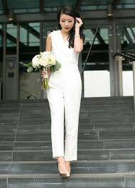 white jumpsuit wedding white jumpsuit for wedding gorgeous bridal jumpsuits thatll