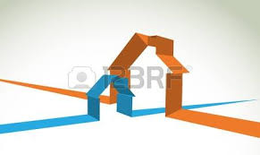 two house house symbol as simple electricity circuit illustration royalty