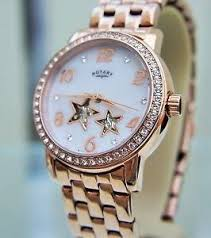 bracelet watches ebay images Rotary ladies 39 stars mother of pearl face rose gold bracelet jpg
