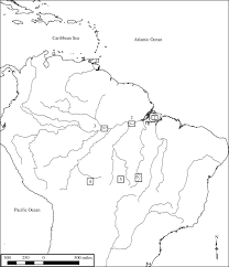 Black And White Map Of Central America by The Legacy Of Cultural Landscapes In The Brazilian Amazon