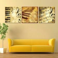 wall ideas 4 pieces set nostalgic piano wall art for wall decor