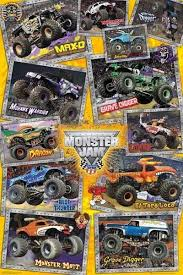 monster jam trucks poster 61x91cm grave digger mutt max