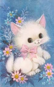 1970s greeting card big eyed kitten 1970s australia and cards